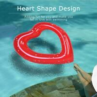 Inflatable Swim Swimming Pool Float Ring Toy Lovely Heart-shaped for Kids Adults