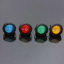 4pcs LED  12V 16A ON/OFF Toggle Spst Round Button Boat Car Auto Rocker Switch