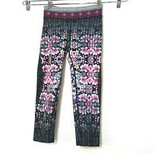Nanette Lepore Capri Cropped Leggings Floral Women Size XS Black Multicolor