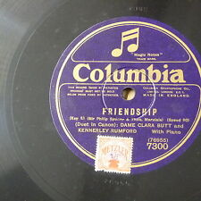 "78rpm  12"" CLARA BUTT & KENNERLEY RUMFORD friendship / the keys of heaven"
