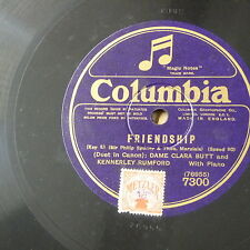 "78rpm  12"" CLARA BUTT & KENNERLEY RUMFORD friendship / the keys of heaven"