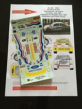DECALS 1/24 FORD ESCORT WRC VERHOESTRATE RALLYE CONDROZ 1997 RALLY WRC HASEGAWA