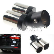 Dual Outlets Exhaust Muffler Tailpipe Tail Tip For Focus Hyundai Elantra Accent