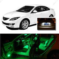 For Mazda 6 2003-2008 Green LED Interior Kit + Xenon White License Light LED