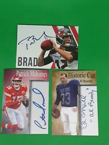 3 Card Lot Tom Brady Patrick Mahomes Al Bundy Autographs The 3 All Time Goats🐐