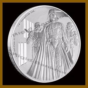 Star Wars $2 Proof 1 Oz Silver Coin, 2016 Darth Vader Classic Niue Disney W/COA