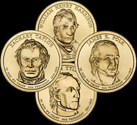 """A 2009 Presidential Dollar COMPLETE 4 Coin Set """"Brilliant Uncirculated"""" COINS"""
