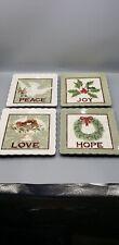 MWW Market Annie Danielson Heart of Holidays 4pc mini plate set.