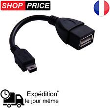 Cable Adaptateur MINI USB Mâle OTG vers USB Femelle Tablette Smartphone (NEUF)