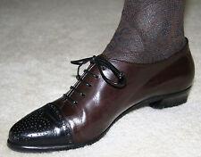 SALE Lorenzo Banfi Black & Brown Oxfords Brogues Shoes 38 8