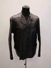 De colección chaqueta de cuero abrigo chaqueta de cuero de 40s 50s de doble abotonadura Abrigo De Cuero De Colección