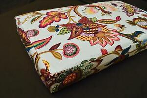 LF810t White Red Yellow Green Brow Cotton Canvas 3D Seat Box Shape Cushion Cover