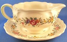 Royal Doulton Leighton (D6164) Gravy Boat and Under Plate - England