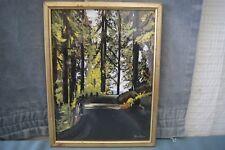 Chemin sous bois. Gouache signé:  ABRAM KUNZ. Cadre vitré. h : 43 x 33 cm