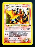 Blaine's Charizard 2/132 Holo Rare Pokemon Gym Challenge Vintage WotC NM/LP