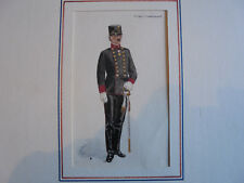 Aquarell Österreich Militär 19. Jahrhundert Passepartout Untertierarzt