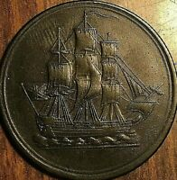LOWER CANADA SHIP COMMERCE HALF PENNY TOKEN - No pennant - Breton 1004