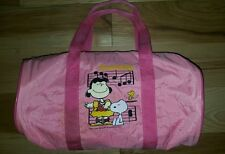 Vintage Peanuts Snoopy Bowling Bag gym Kids Duffle Lucy Snoopy 1960s music notes