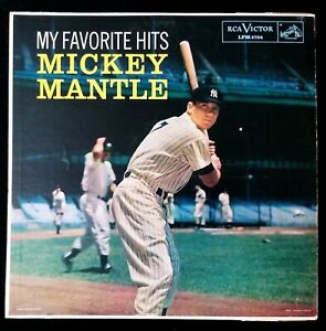1958 Mickey Mantle RCA Victor Vintage Record Album My Favorite Hits EX Condition