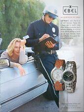 ▬► PUBLICITE ADVERTISING AD WATCH MONTRE EBEL Lichine Cybill Shepherd 1993
