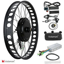"""26"""" 1000W 48V Electric Bike Fat Tire Front Wheel Bicycle Motor Conversion Kit"""