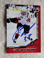Colorado Avalanche Joey Hishon Signed 13/14 AHL Top Prospects Monsters Card Auto
