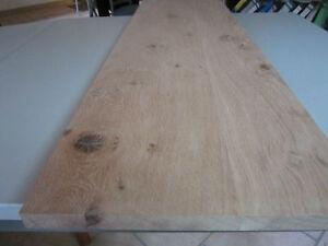 Eichenplatte (€108,00/m) Wildeiche Massivholzplatte 20x600x1000mm Tischplatte
