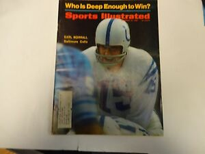 1968 Sports Illustrated Earl Morrall Cover November 25th