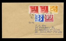 POSTAGE DUE GB 1986 COVER 3 MIXED ISSUES PHILATELIC £7.13