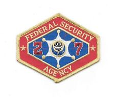 Outland Federal Security Agency Embroidered Patch