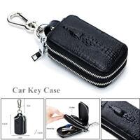 Double-layer Car Smart Key Case Remote Key Cover Bag Holder Key Chain Zipper Bag