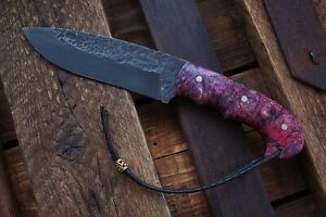"""Russian author's handmade knife """"Berzloy"""" made of steel 9XC"""