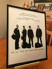 "2 BIG 11X14 FRAMED U2 ""2001 ELEVATION TOUR"" + LEAVE BEHIND LP ALBUM CD PROMO ADS"