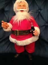 NOS 1984 DAKIN CHRISTMAS SANTA HOLDING COKE BOTTLE STANDING DOLL