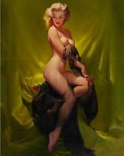 Gil Elvgren-Golden Beauty, Canvas/Paper Print, Pinup Girl