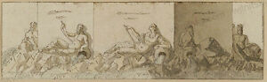 """Baroque Frieze Project"", South German Drawing, 18th Century"