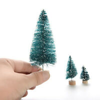6X Christmas Tree Mini Cedar Ornaments Party Dolls House Miniature Decorb FO