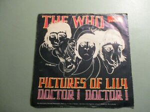 """THE WHO - Pictures of Lily / Doctor! Doctor! -Mod Psychedelic 7"""" 1967 German Cvr"""