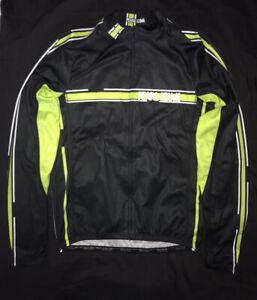Pearl Izumi Cycling Jersey Womens Full Zip Black Long Sleeve USA L Women's Top L