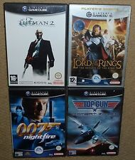 JOB LOT 4 x NINTENDO GAMECUBE GAME Boxed Hitman2 Lord Ring Top Gun 007 Nightfire