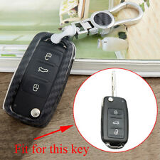 For VW Golf Polo Eos Jetta Scirocco Passat Key Case Ring Holder Bag Carbon Fiber