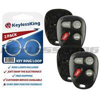 2 New Replacement Keyless Entry Remote Key Fob Shell Case Pad for 16245100-29