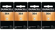4 x 364 Duracell Silver Oxide Batteries (AG1, SR60, D364, SP364, V364, SR621)