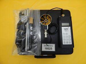 Omega Engineering HHF710 Digital Hygro-Thermometer Anemometer Meter Set Used