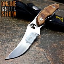 "7"" ELK RIDGE TACTICAL FIXED BLADE Burl Wood Survival Hunting Bowie Knife SHEATH"