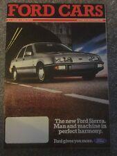 Ford Cars October-November 1982 UK Brochure Fiesta Escort Sierra Capri Granada