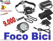 Luz foco para bici 9 LED 9000LM linterna bicicleta SENDERISMO 9 x CREE XM-L btt
