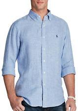 New Mens Polo Ralph Lauren Standard Fit Ocean-Wash Shirt M Blue Check NWT