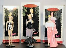 Hallmark - Barbie Collector Series Ornaments 1994 #1 , 1995 #2 , 1996 #3