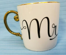 Rosanna 10 oz Love is in the Air Mug - Mr.- Coffee Tea Coco Cup White Gold